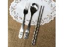 不锈钢餐具套装(勺子筷子叉子)